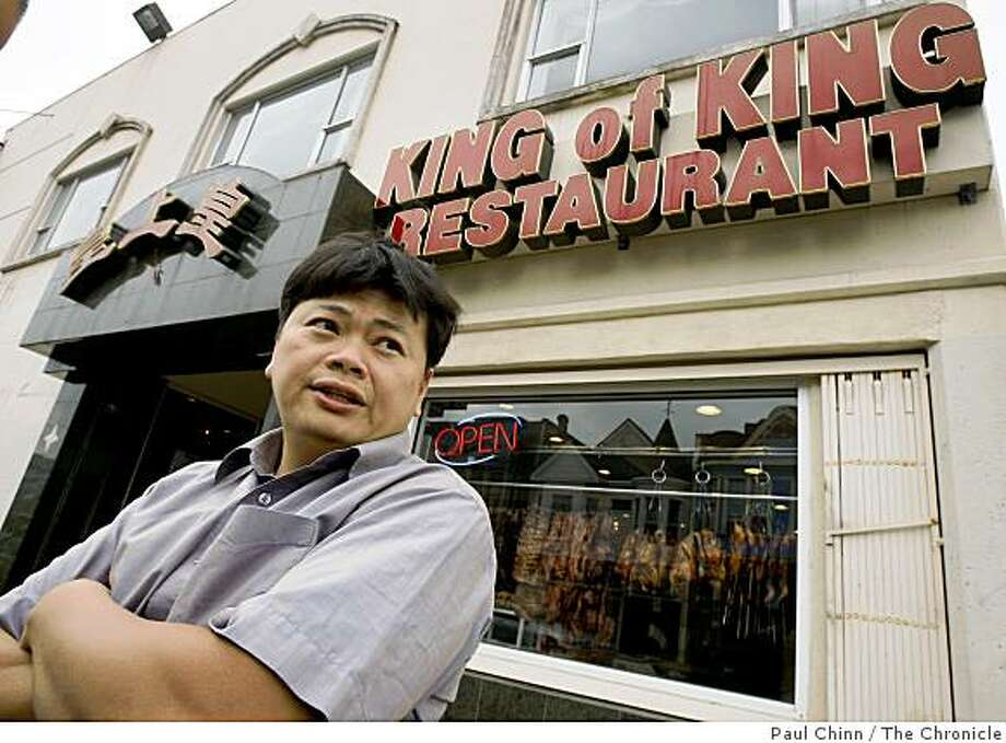Kevin Quan, an occasional customer of King of King restaurant, says he's altered his dining habits because of the recent restaurant robberies in Oakland, Calif., on Friday, Aug. 8, 2008. King of King is one of the recent victims of the take-over style hold-ups in Oakland. Photo: Paul Chinn, The Chronicle