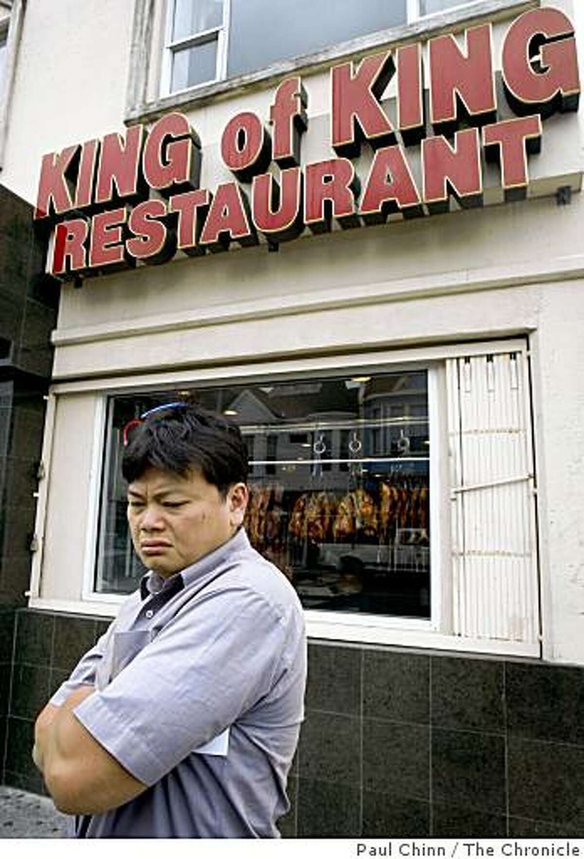 Kevin Quan, an occasional customer of King of King restaurant, says he's altered his dining habits because of the recent restaurant robberies in Oakland, Calif., on Friday, Aug. 8, 2008. King of King is one of the recent victims of the take-over style hold-ups in Oakland.