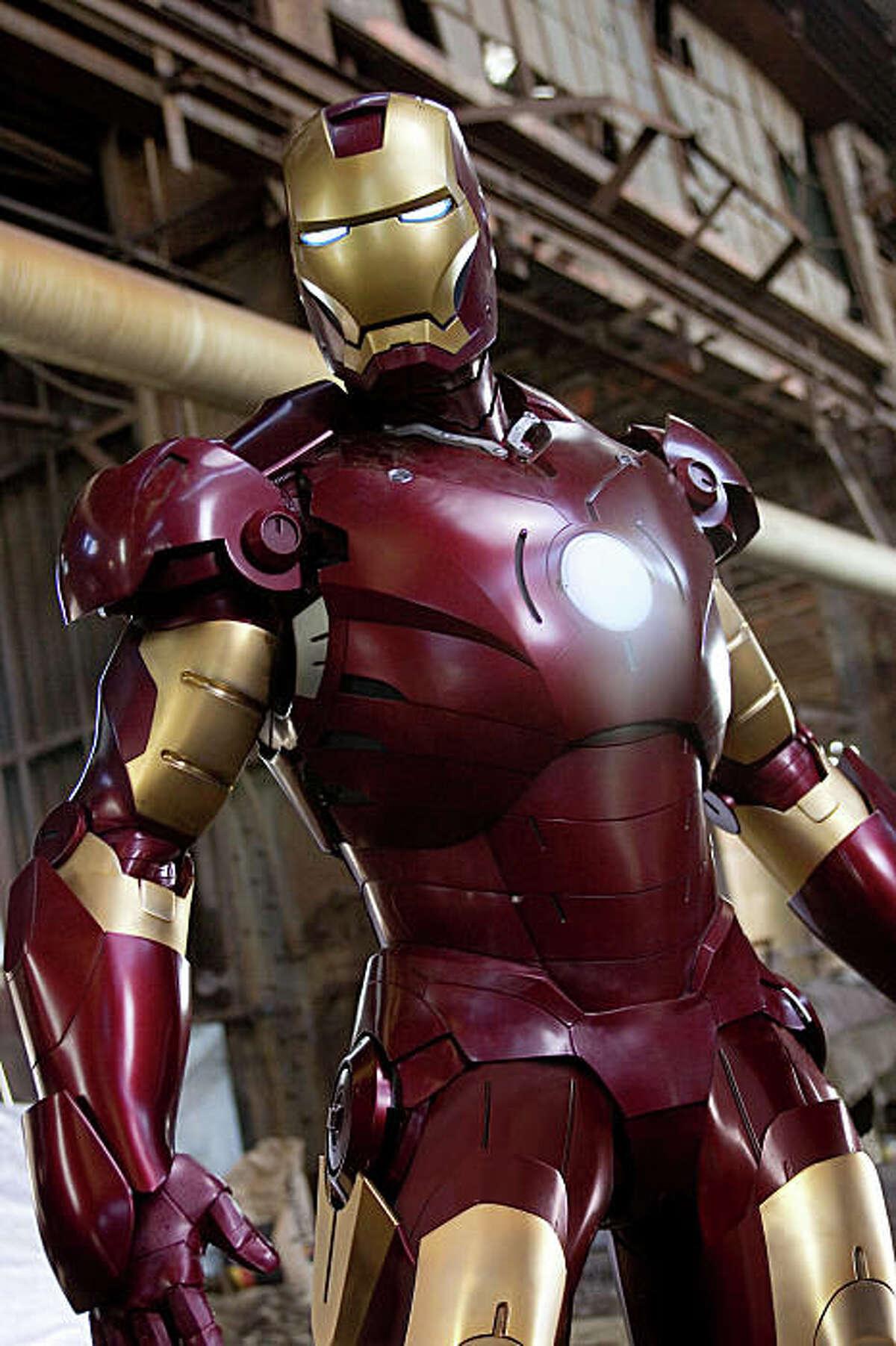 Iron Man aloft in his air-worthy Mark III armor in ?'Iron Man.?