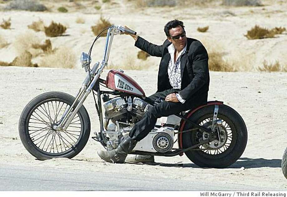 "Michael Madsen stars in ""Hell Ride,"" Larry Bishop's action movie about a group of bikers out to avenge the murder of a fellow member, opening in Bay Area theaters on Friday August 8.Michael Madsen is The Gent in Larry Bishop's Hell Ride. Photo: Will McGarry, Third Rail Releasing"