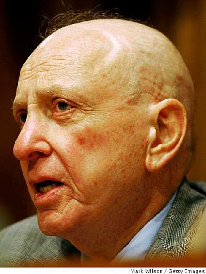 WASHINGTON - JULY 30:  U.S. Sen. Arlen Specter (R-PA) speaks during a Senate Judiciary Committee hearing on Capitol Hill July 30, 2008 in Washington, DC. The committee is hearing testimony on possible politicized and biased hiring practices within the Department of Justice conducted in the Bush administration.   (Photo by Mark Wilson/Getty Images) Photo: Getty Images