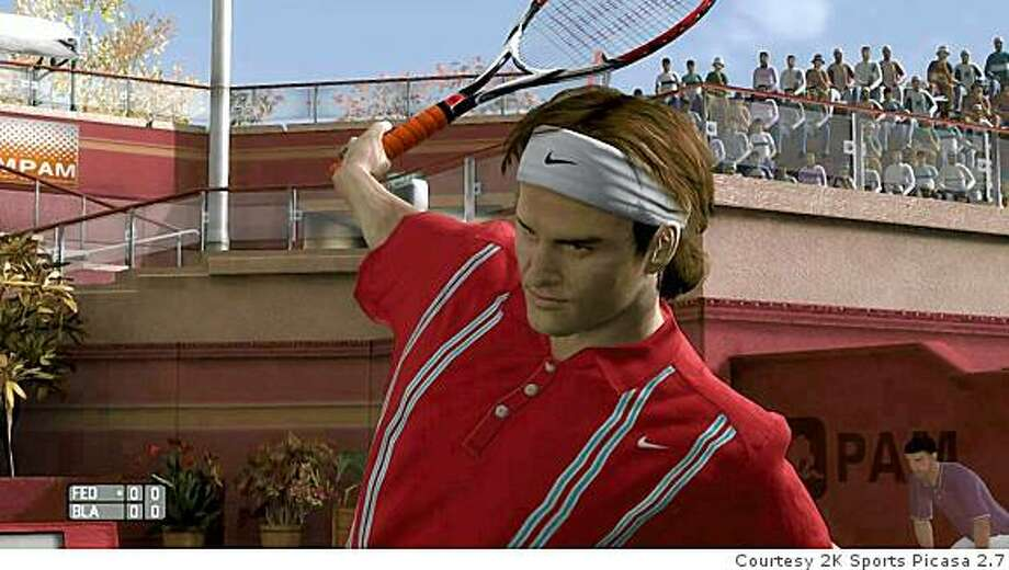 Tennis great Roger Federer is in Top Spin 3, but Wimbledon champion Rafael Nadal isn't in the Xbox 360 or Nintendo Wii versions. Photo: Courtesy 2K Sports Picasa 2.7