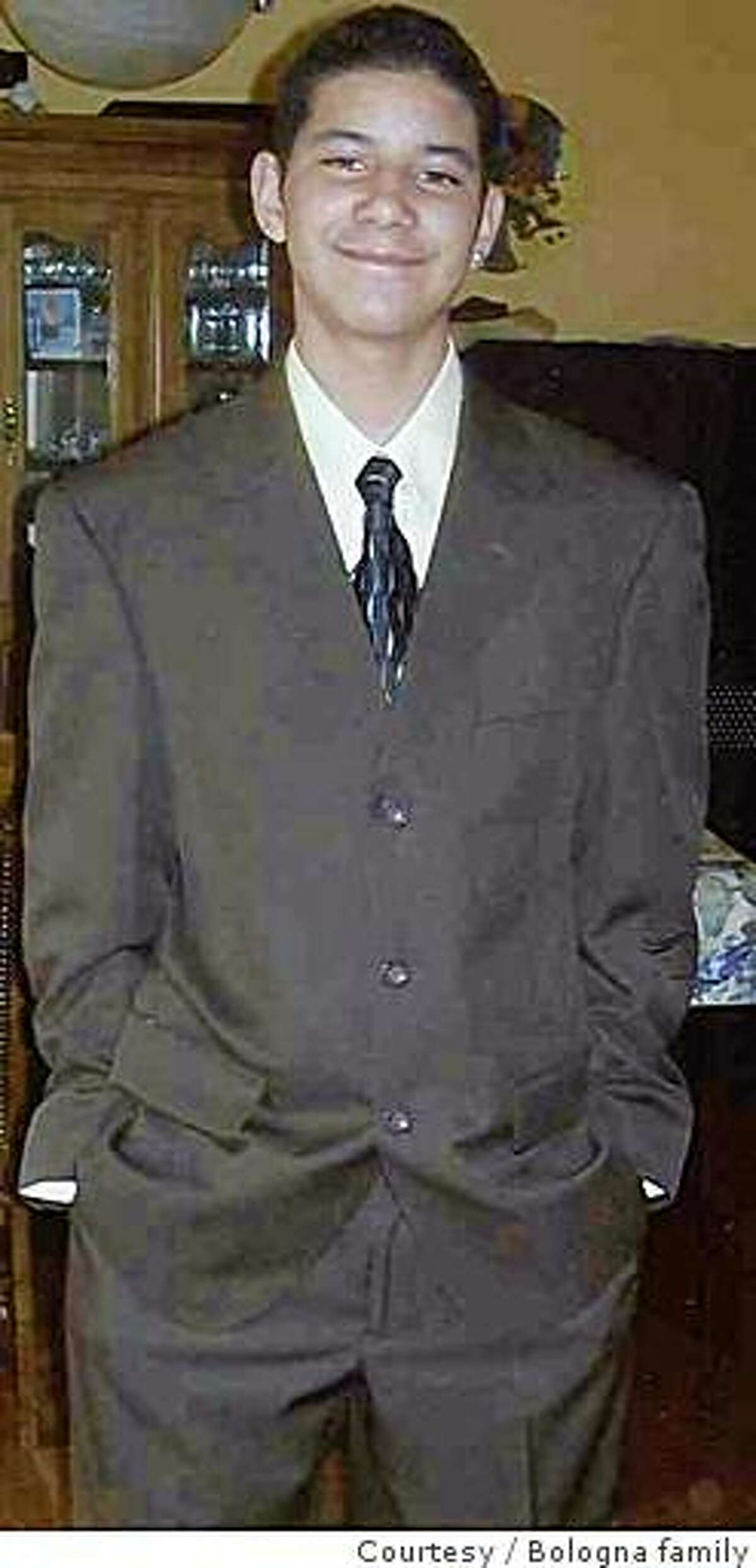 Matthew Bologna at a family function in 2008. He was slain June 22, 2008, in San Francisco, along with his father and an older brother.