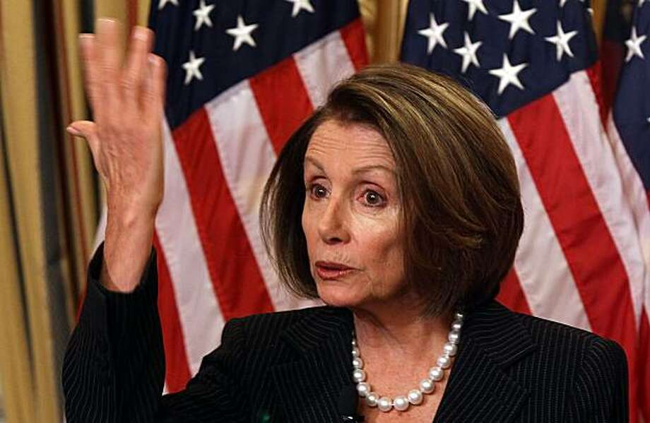 WASHINGTON - JANUARY 28:  House Speaker Nancy Pelosi speaks during her weekly news conference on Capitol Hill on January 28, 2010 in Washington, DC. Speaker Pelosi talked about President Barack Obama's State Of The Union speech he delivered last night. Photo: Mark Wilson, Getty Images