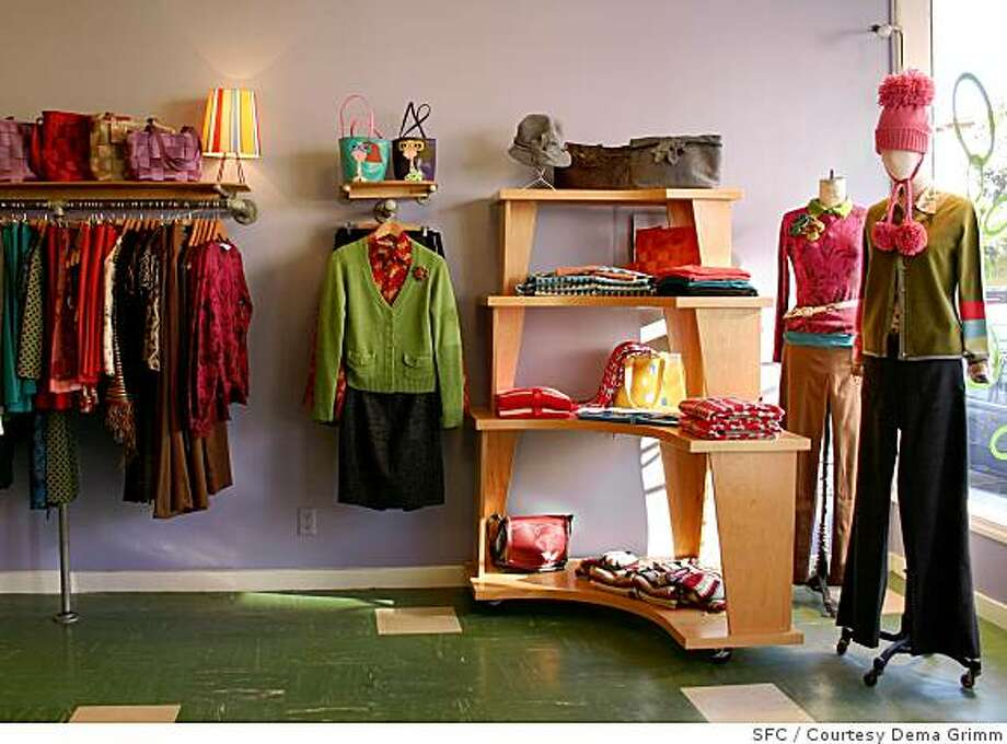 Dema was one of the first independent designer boutiques in the Mission District. Photo: SFC, Courtesy Dema Grimm