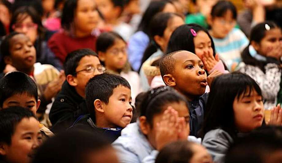 Students at Franklin Elementary School attend an assembly about Dr. Martin Luther King Jr. on Thursday, Jan. 21, 2010, in Oakland, Calif. Photo: Noah Berger, Special To The Chronicle