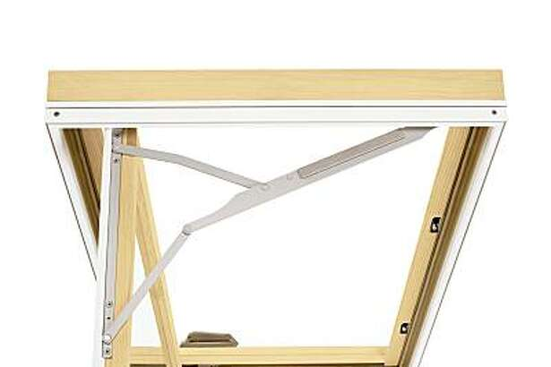 Ultimate Replacement Casement window from Marvin Windows and Doors, swings out and then reverses itself along a track