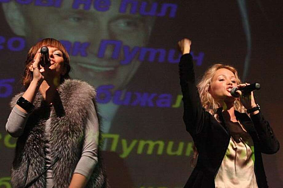 "Yana Danieko and Irina Kozlova perform a karaoke version of their megahit song ""A Man like Putin."" PBS' SOUND TRACKS: MUSIC WITHOUT BORDERS travels to Moscow in search of the people behind the song's popularity. The show reports on the best music and most interesting music stories from around the world. It premieres on PBS stations Monday, January 25, 2010 at 10 pm (check local listings). Photo: Alexei Zaikin, PBS"