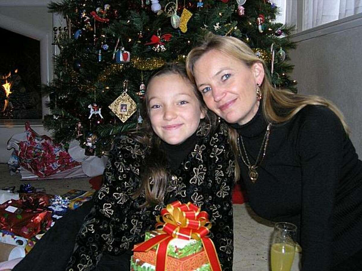 Jane Marvin and her daughter Devon at Christmas 2007. Devon, who was 13, took her own life less than two months after this photo was taken. A new documentary, Race to Nowhere, is dedicated to Devon's memory.