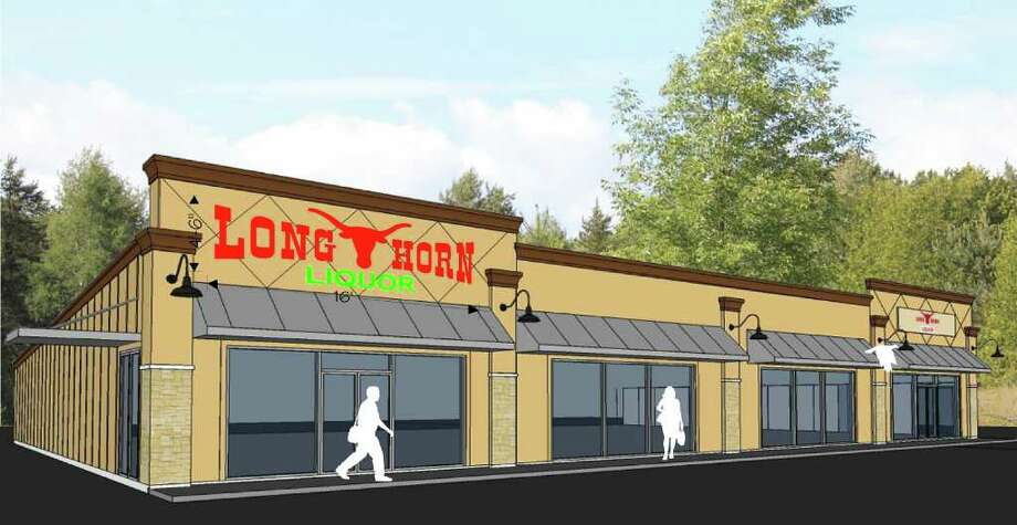 An artist rendering of Longhorn Liquor, which will soon be opening on North LHS Drive in Lumberton. The business is located 200 feet from the highway, putting it just outside the Lumberton city limits. Photo: David Lisenby, HCN_Longhorn