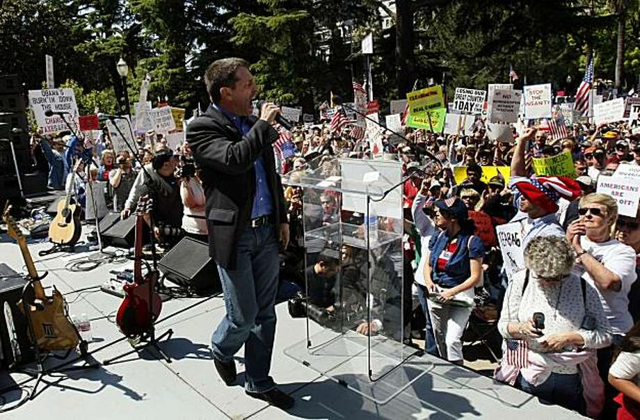 Attorney Mark Meckler was one of the organizers of the Sacramento Tea Party that tousands attened.  Wednesday April 15, 2009 Photo: Lance Iversen, The Chronicle
