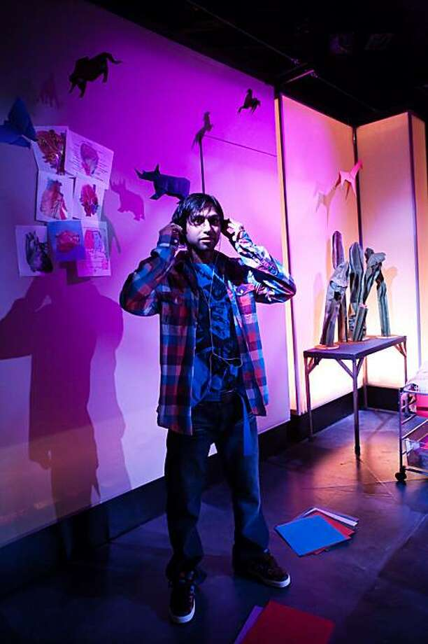 "Aly Mawji in SF Playhouse's world premiere of Rajiv Joseph's ""Animals Out of Paper"" Photo: Jessica Palopoli"