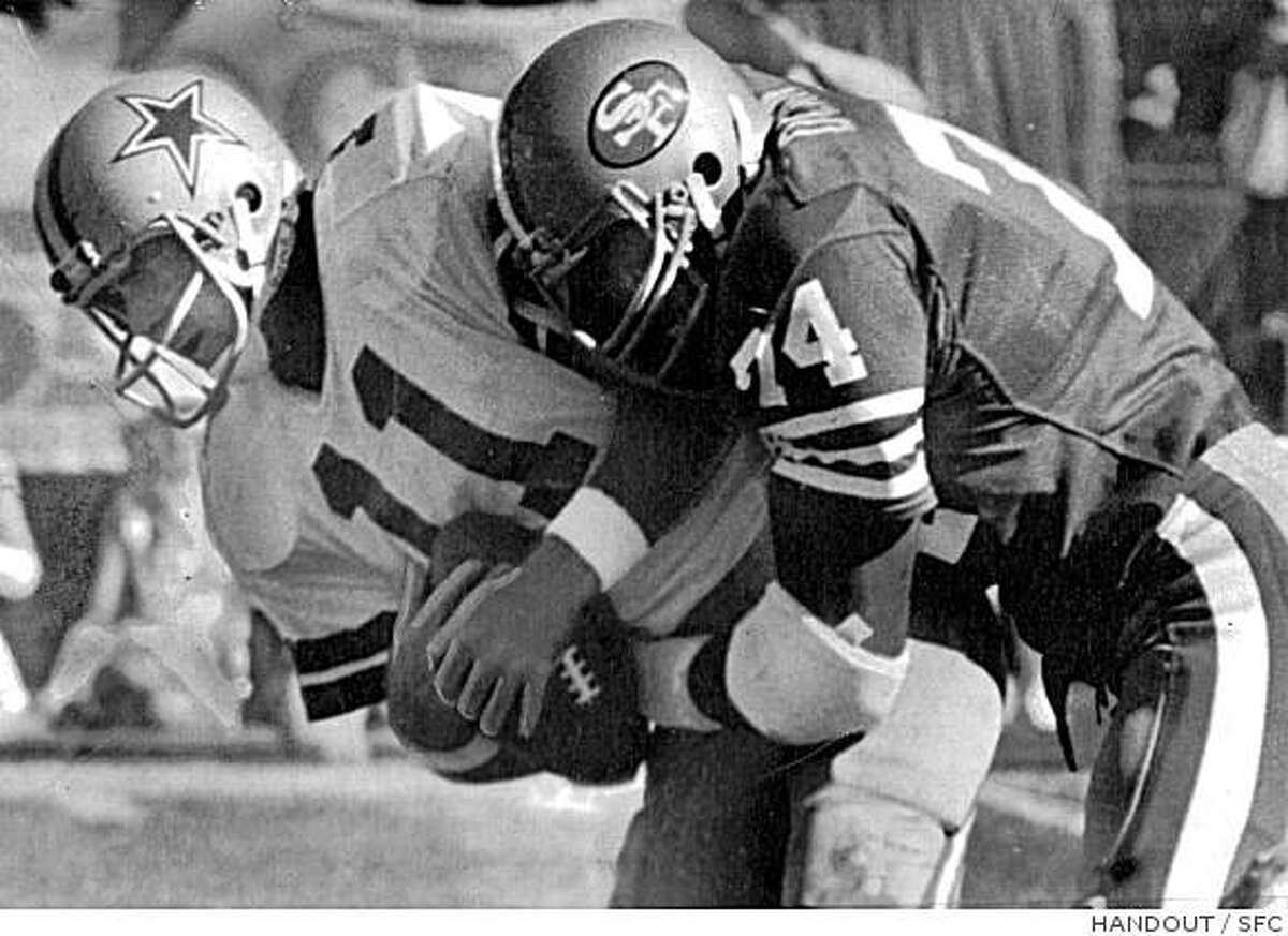 Fred Dean came from the Chargers to the 49ers and immediately left his mark, sacking Cowboys QB Danny White three times and helping S.F. reach the Super Bowl.