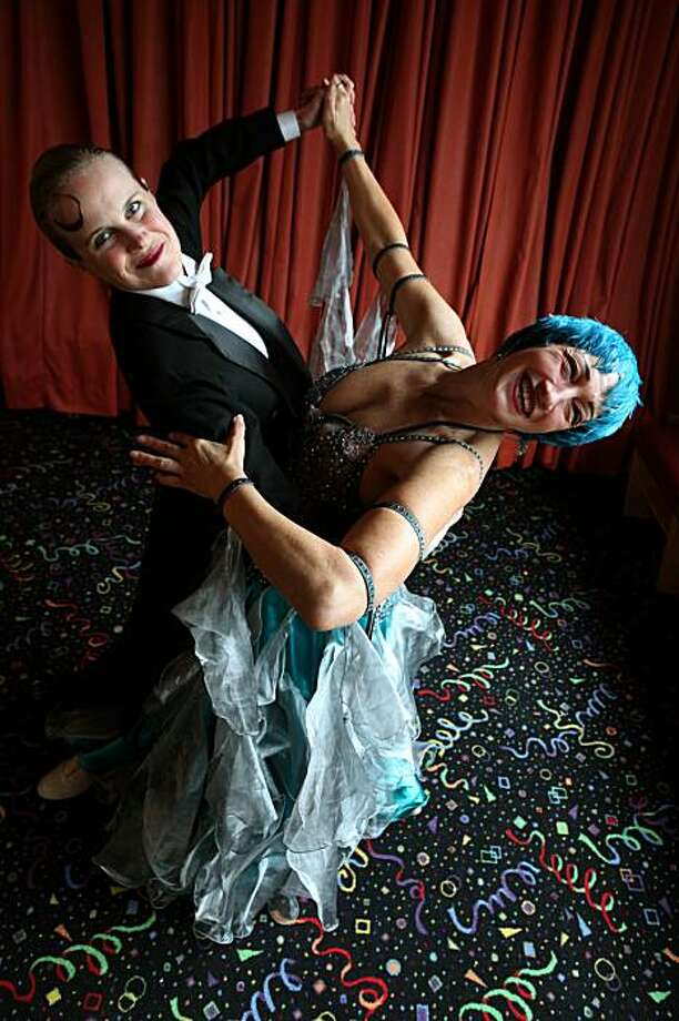 Zoe Balfour (right) and Citabria Phillips (left) are ballroom dance instructors in Oakland, Ca., on Tuesday , January 12, 2010 . Photo: Liz Hafalia, The Chronicle