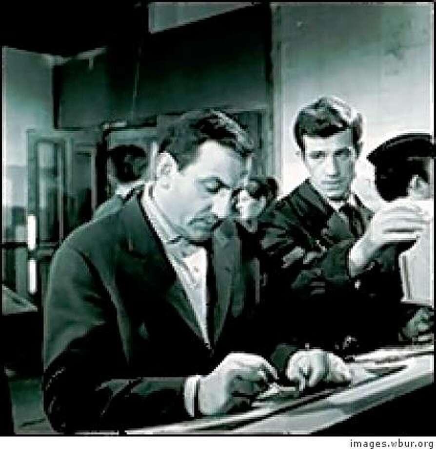 Lino Ventura, left, and John-Paul Belmondo in movie still from CLASSE TOUS RISQUES Photo: Images.wbur.org