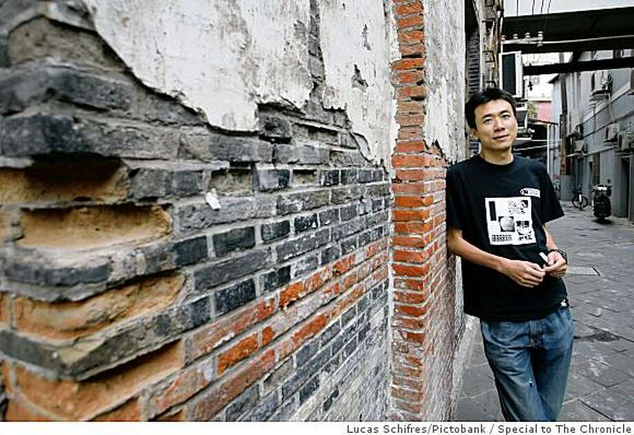 Tudou Chief Executive Officer Gary Wang poses for a photograph outside his offices in Shanghai, on September 21, 2007. Tudou.com is the YouTube of China. Photo by Lucas Schifres / Pictobank / Special to The Chronicle Photo: Lucas Schifres/Pictobank, Special To The Chronicle