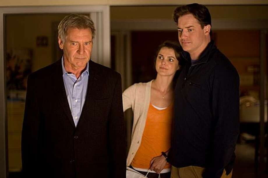 Brendan Fraser as ÒJohn Crowley,Ó Keri Russell as ÒAileen CrowleyÓ and Harrison Ford as ÒDr. Robert StonehillÓ in CBS FilmsÕ EXTRAORDINARY MEASURES Photo: Merie Wesimiller Wallace, SMPSP, CBS Films