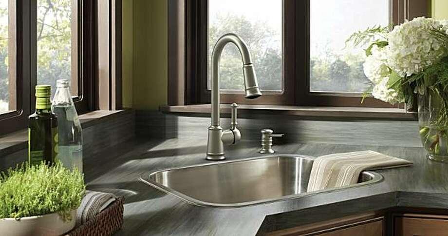 Moen's Lindley Eco-Performance kitchen faucet Photo: Moen