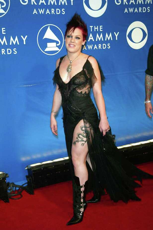 Pink has become such a glamorous red carpet star in recent years, it's easy to forget that this is what she dressed like in 2003. Photo: Evan Agostini, Getty Images / Getty Images North America