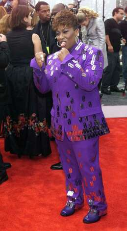 Missy Elliott did her best impression of a purple people-eater in 2000. Photo: Dave Hogan, Getty Images / Getty Images Europe
