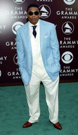Rapper Nelly failed to impress in a baggy blue suit in 2005. Photo: Kevin Winter, Getty Images / 2005 Getty Images