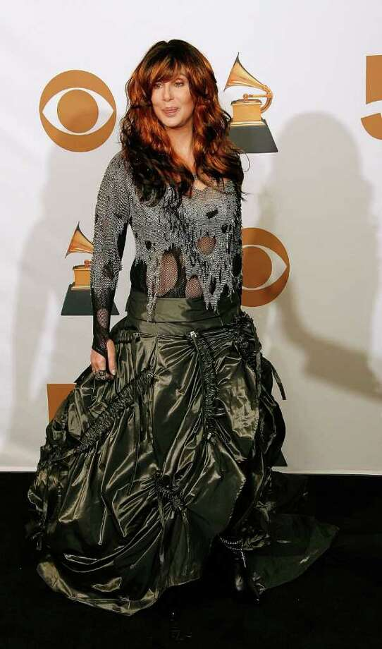 Cher looked frumpy at the 2008 awards. Photo: Vince Bucci, Getty Images / 2008 Getty Images