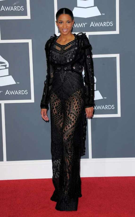 Ciara tried for bondage-chic in 2010, and failed.  Photo: Jason Merritt, Getty Images / 2010 Getty Images