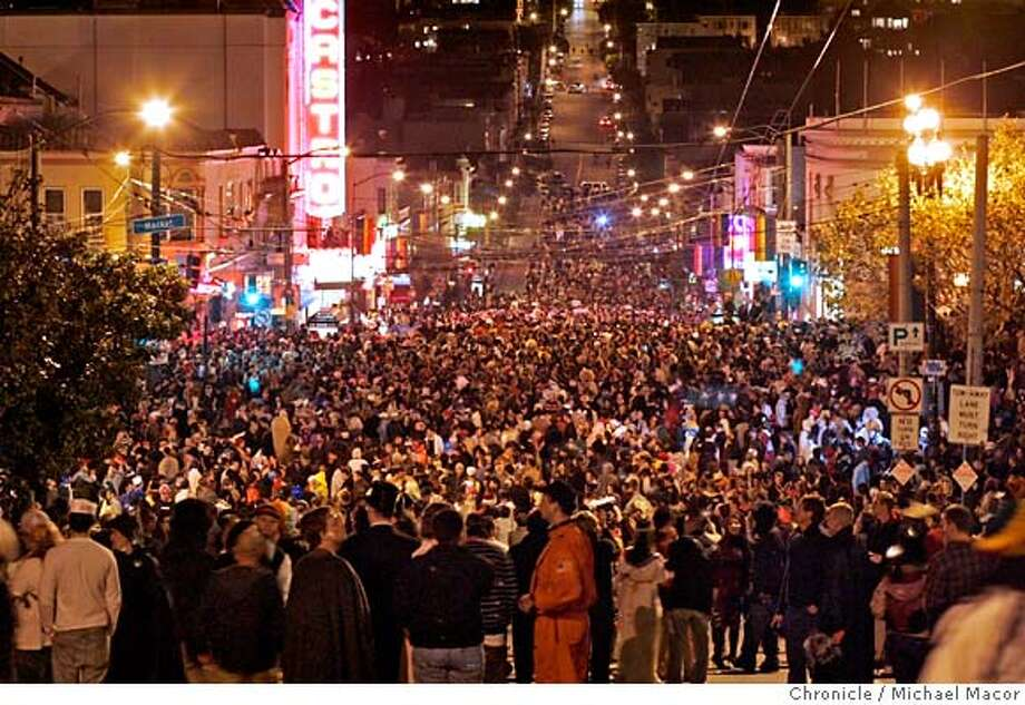 ###Live Caption:halloween_castro_180_mac.jpg Thousands pack Castro St. for the celebration. Halloween in the Castro of San Francisco. Event in, San Francisco, Ca, on 10/31/06. Photo by: Michael Macor/ San Francisco Chronicle###Caption History:halloween_castro_180_mac.jpg Thousands pack Castro St. for the celebration. Halloween in the Castro of San Francisco. Event in, San Francisco, Ca, on 10/31/06. Photo by: Michael Macor/ San Francisco Chronicle###Notes:###Special Instructions:Mandatory credit for Photographer and San Francisco Chronicle No sales/ Magazines Out Photo: Michael Macor