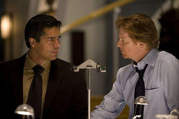 "CAPRICA -- ""Pilot"" -- Pictured: (l-r) Esai Morales as Joseph Adama, Eric Stoltz as Daniel Graystone -- Syfy Photo: Jeff Weddell CAPRICA -- ""Pilot"" -- Pictured: (l-r) Esai Morales as Joseph Adama, Eric Stoltz as Daniel Graystone -- Syfy Photo: Jeff Weddell Photo: Jeff Weddell, Syfy"