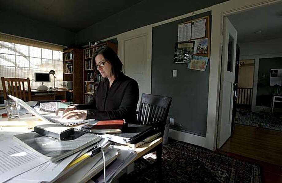 Keally McBride, was able to secure a Federal Housing Administration insurance-backed mortgage to purchase a home in the Grand Lake  neighborhood in Oakland, Calif., about three months ago. McBride at her home  on Tuesday January 5, 2010,  which was built in 1912 and has many of the original features such as lighting and woodwork throughout the building. Photo: Michael Macor, The Chronicle