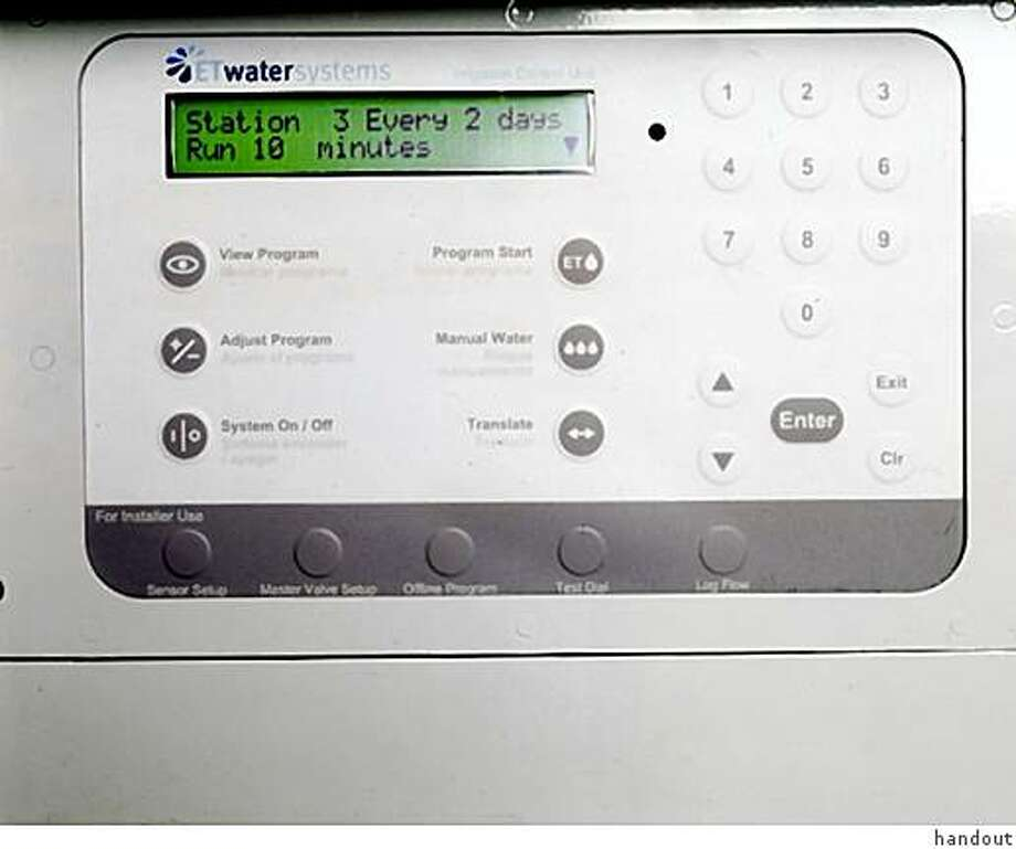 ET Water Systems brand water controller Photo: Handout
