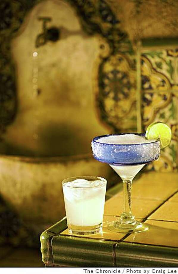 A traditional Margarita (right) and what mixologist consider to be a real Margarita (left), in Berkeley, Calif., on July 16, 2008. Photo by Craig Lee / The Chronicle Photo: Photo By Craig Lee, The Chronicle