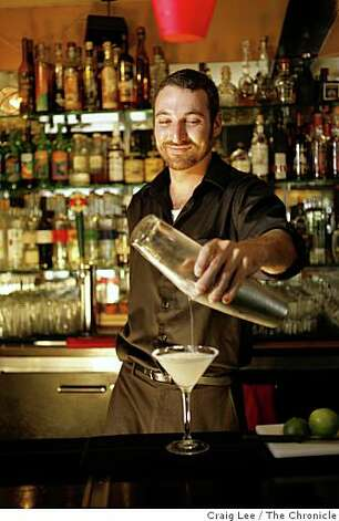 Matt Burbach making a Margarita Royal at Fonda restaurant in Albany, Calif., on July 18, 2008. Photo by Craig Lee / The Chronicle Photo: Craig Lee, The Chronicle