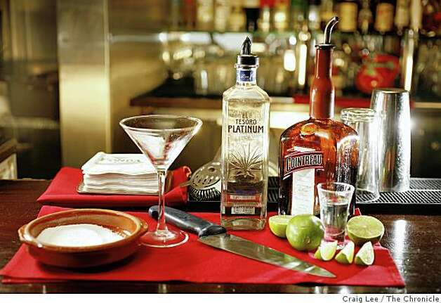 Ingredients to make a Margarita Royal at Fonda restaurant in Albany, Calif., on July 18, 2008. Photo by Craig Lee / The Chronicle Photo: Craig Lee, The Chronicle