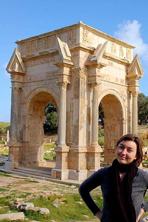 Marshka Kiera at Leptis Magna, Libya. Photo: Courtesy Of Marshka Kiera
