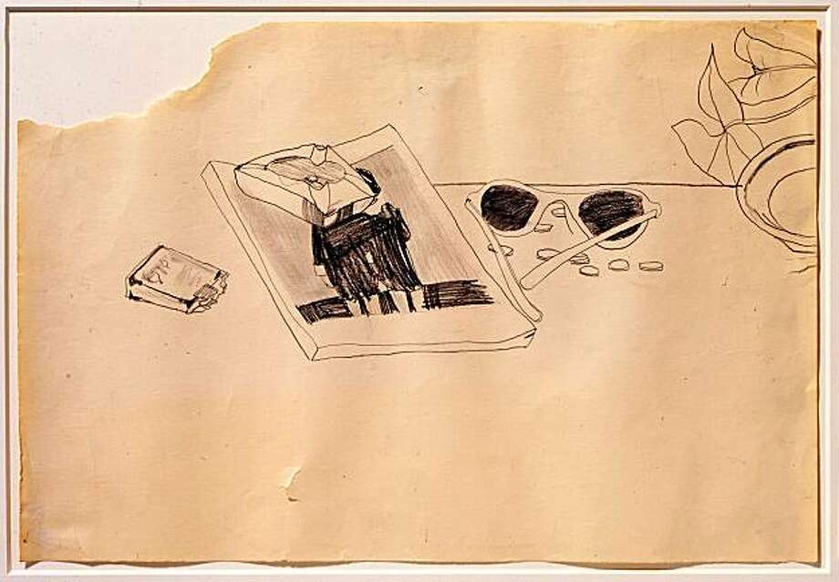 """Untitled"" (1976) graphite on paper by Robert Gober  15.5"" x 22.25"" Photo: Courtesy, Fraenkel Gallery, S.F."