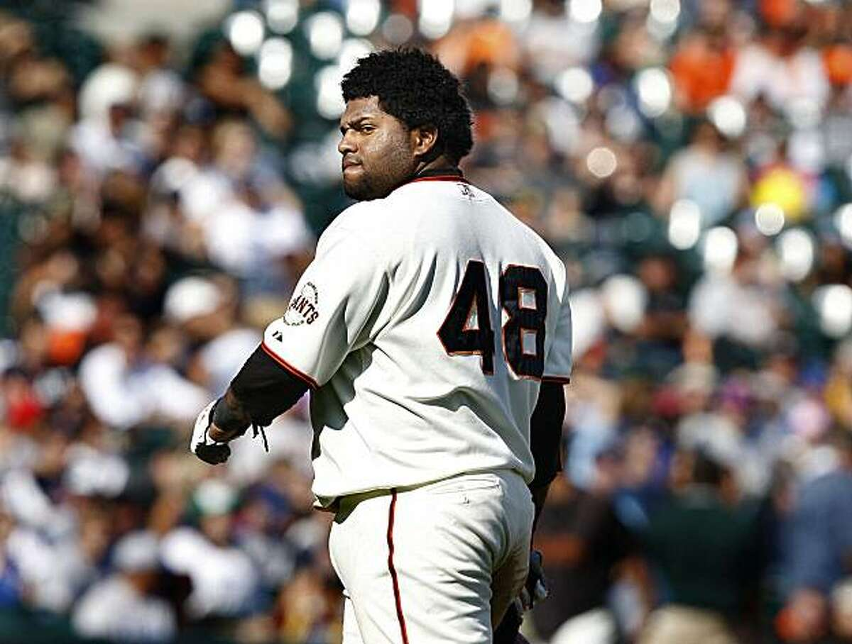 Pablo Sandoval went one for three with a walk, but the Giants managed only two runs and lost their third game in a row against the Chicago Cubs.