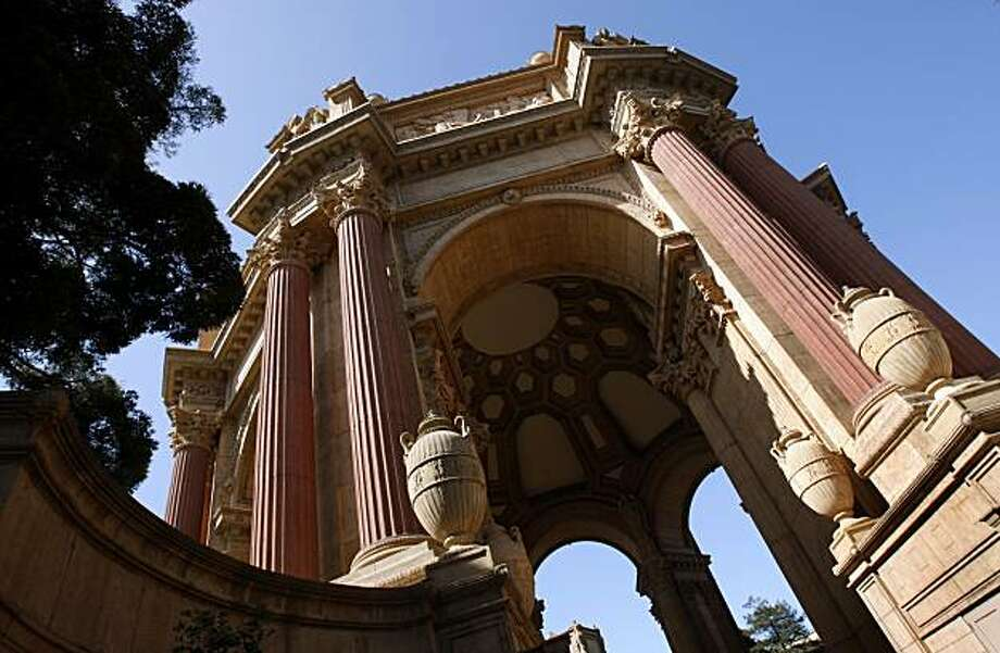 The Palace of Fine Arts is seen in San Francisco, Calif., on Friday, May 8, 2009. The historic landmark is set to reopen soon after an extensive restoration project. Photo: Paul Chinn, The Chronicle