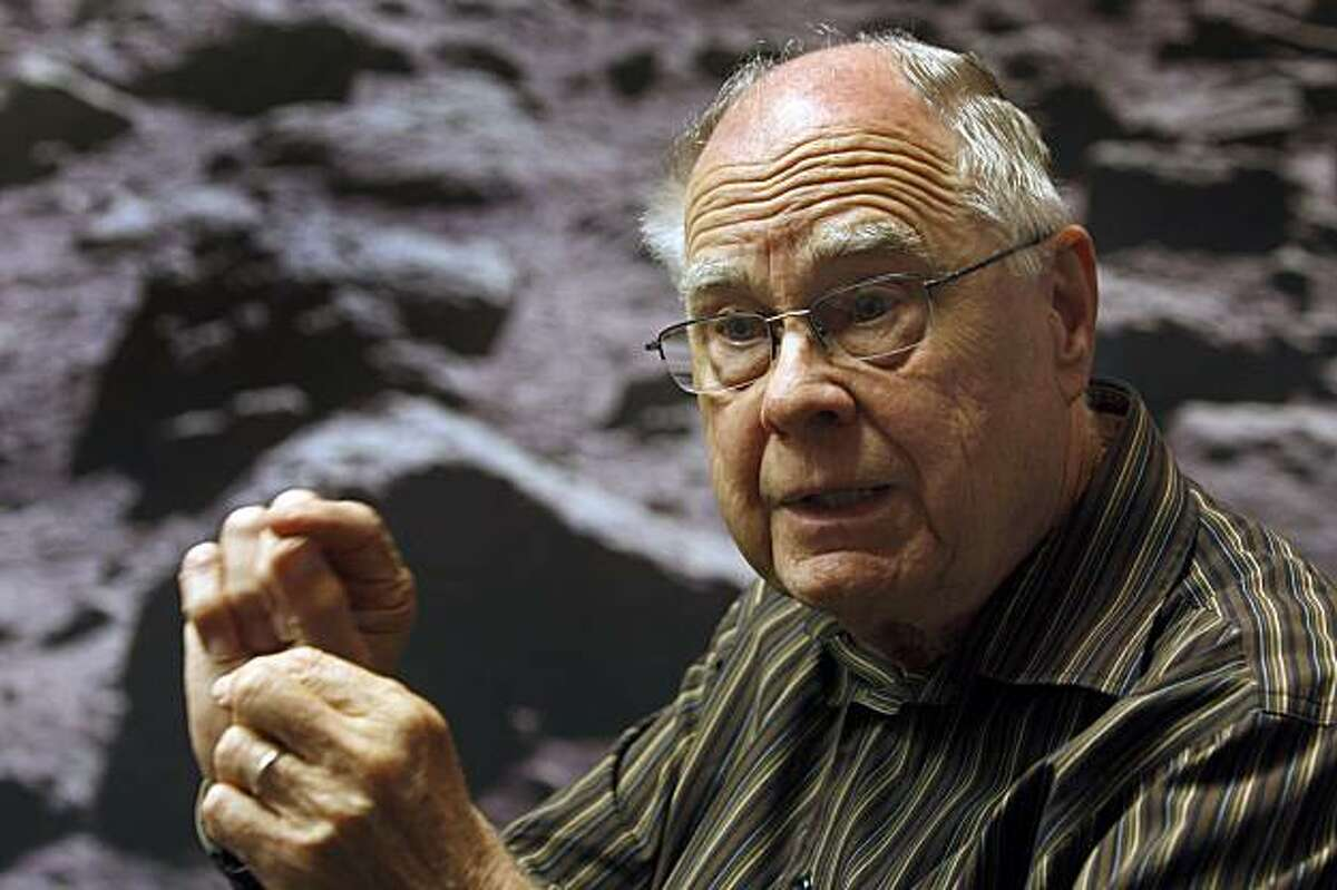 William Borucki, chief scientist on the Kepler space mission, discusses the project at NASA Ames Research Center in Mountain View, Calif., on Wednesday, June 24, 2009. The Kepler spacecraft is orbiting the sun in search of distant earth-like planets.