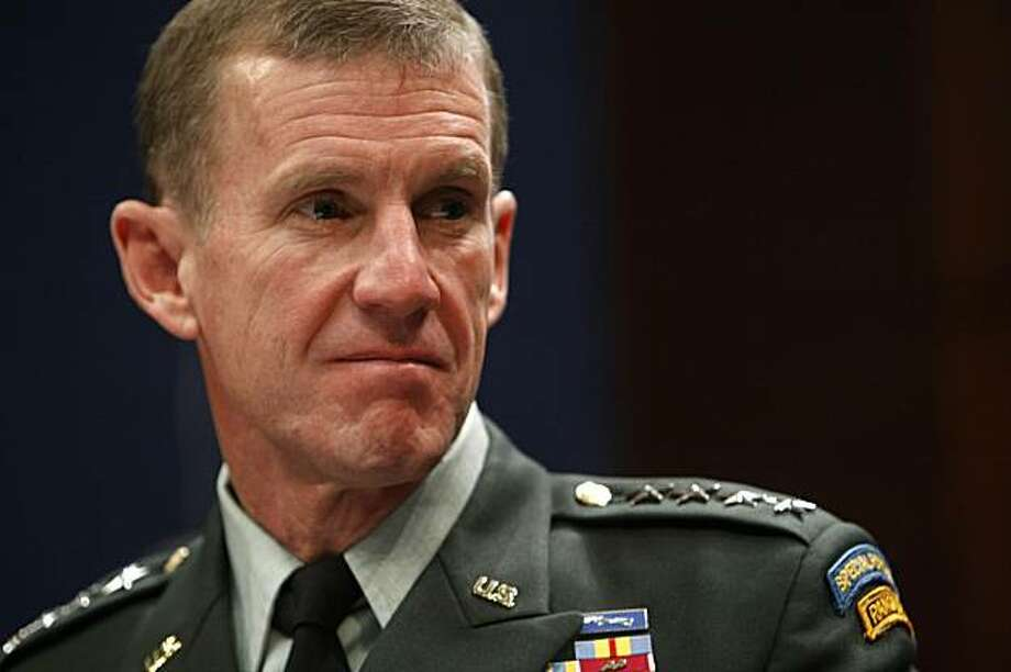 Gen. Stanley McChrystal, Commander of the  International Security Assistance Force and Commander of U.S. Forces Afghanistan, testifies  before the House Armed Services Committee on Capitol Hill in Washington, Tuesday, Dec. 8, 2009. Photo: Gerald Herbert, AP