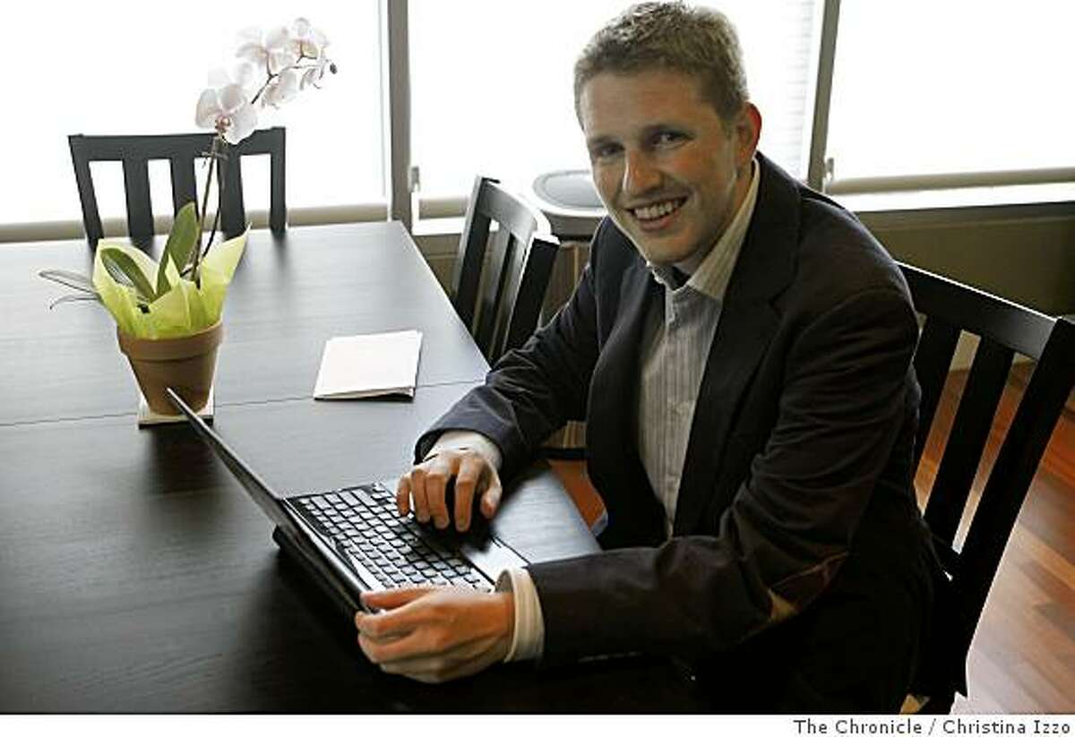 Matt Mullenweg, 24, who just landed $29.5 million in funding for his program WordPress, works on his laptop in his home on Wednesday, June 25, 2008, San Francisco, Calif. Matt Mullenweg, who just landed $29.5 million in funding for a software development, pictured in his home on Wednesday, June 25, 2008, San Francisco, Calif. Photo by Christina Izzo / The Chronicle
