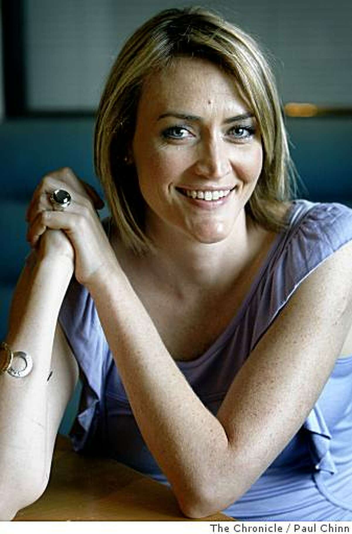 Heather Armstrong talks about her career as a professional blogger during an interview in San Francisco, Calif., on Friday, July 18, 2008. Armstrong's website, which gets about 4 million hits a month, chronicles her daily life, much of it surrounding her four-year-old daughter Leta.Photo by Paul Chinn / The Chronicle