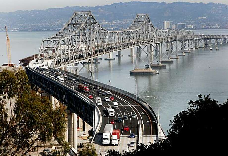 "The notorious ""S"" curve has been the site of over 40 accidents since it was created. A truck carrying pears plunged off the ""S"" curve area of the Bay Bridge early Monday morning landing on Yerba Buena island and killing the driver November 9, 2009. Photo: Brant Ward, The Chronicle"