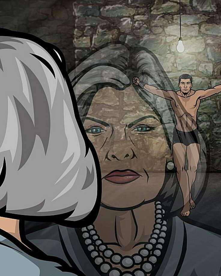 ARCHER: Archer, a new half-hour animated comedy series airing on FX. L-R: Malory Archer and Sterling Archer.  ARCHER: Archer, a new half-hour animated comedy series airing on FX. L-R: Malory Archer and Sterling Archer. CR: FX Photo: Fx