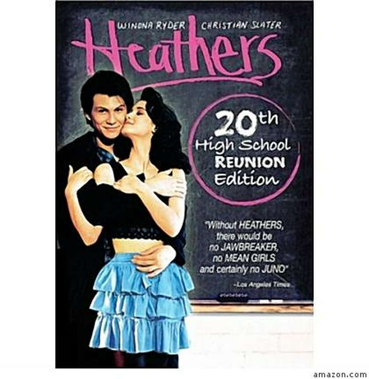 dvd cover: HEATHERS: 20th HIGH SCHOOL REUNION EDITION