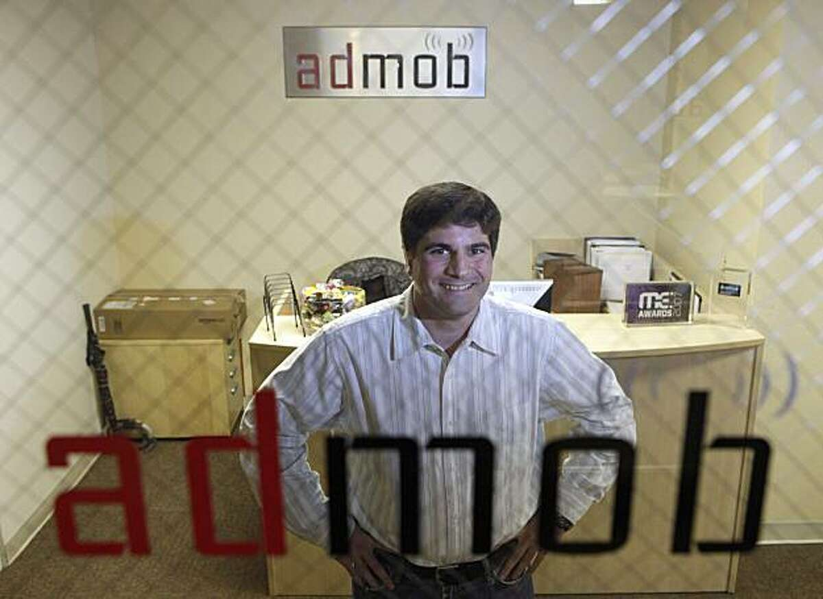 ** FOR USE WEEKEND OF DEC. 26-27 AND THEREAFTER ** Omar Hamoui, Founder and CEO of AdMob, poses at his company's offices in San Mateo, Calif., Tuesday, Dec. 8, 2009. (AP Photo/Marcio Jose Sanchez)