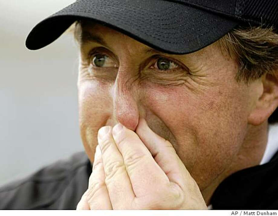 Phil Mickelson of the USA is seen after finishing during the first round of the British Open Golf championship, at the Royal Birkdale golf course, Southport, England, Thursday, July 17, 2008. (AP Photo/Peter Morrison) Photo: Matt Dunham, AP
