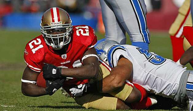 San Francisco 49ers Frank Gore makes a first down in the second half of the game against  the Detroit Lions Sunday Dec. 27, 2009, in San Francisco, CAlif. Photo: Lacy Atkins, The Chronicle