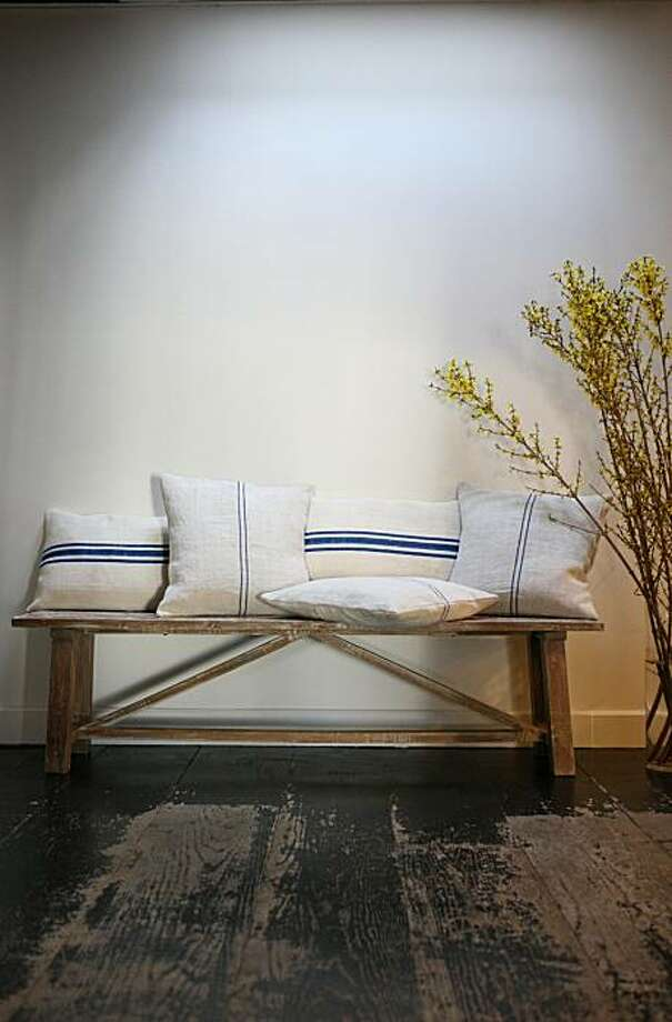 L'Aviva Home Grain Sack Pillows Photo: L'Aviva Home
