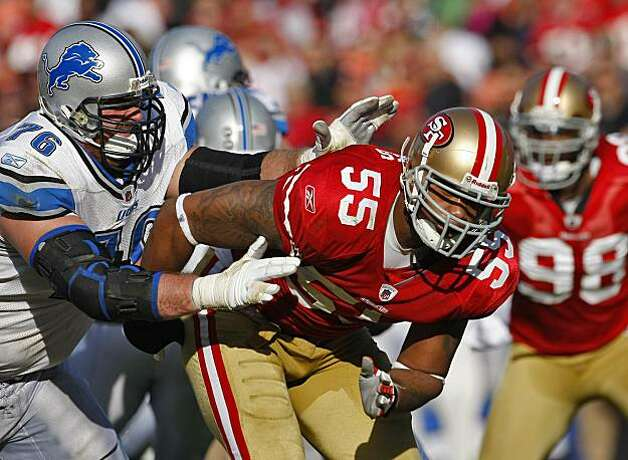 San Francisco 49ers Ahmad Brooks palys against the Detroit Lions Sunday Dec. 27, 2009, in San Francisco, CAlif. Photo: Lacy Atkins, The Chronicle